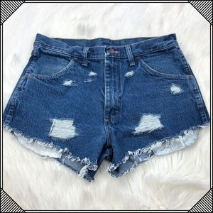 * Vintage Blue Jean Shorts Rustler Cut Offs *